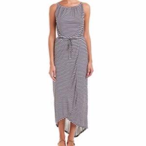 CAbi Boat Stripe Maxi Dress Style 5105 size M